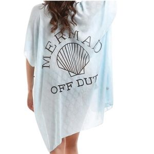 Mermaid Off Duty Open Cardigan Beach Cover Up